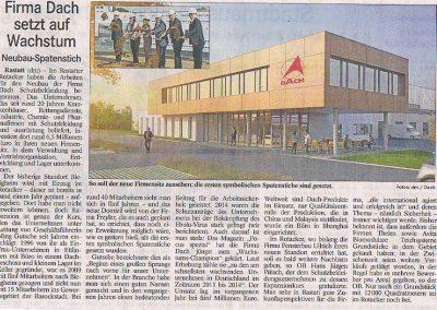Zeitung-Spatenstich