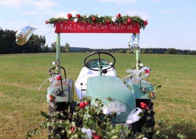 Hochzeit-Traktor