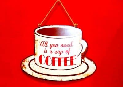 Schild Coffee