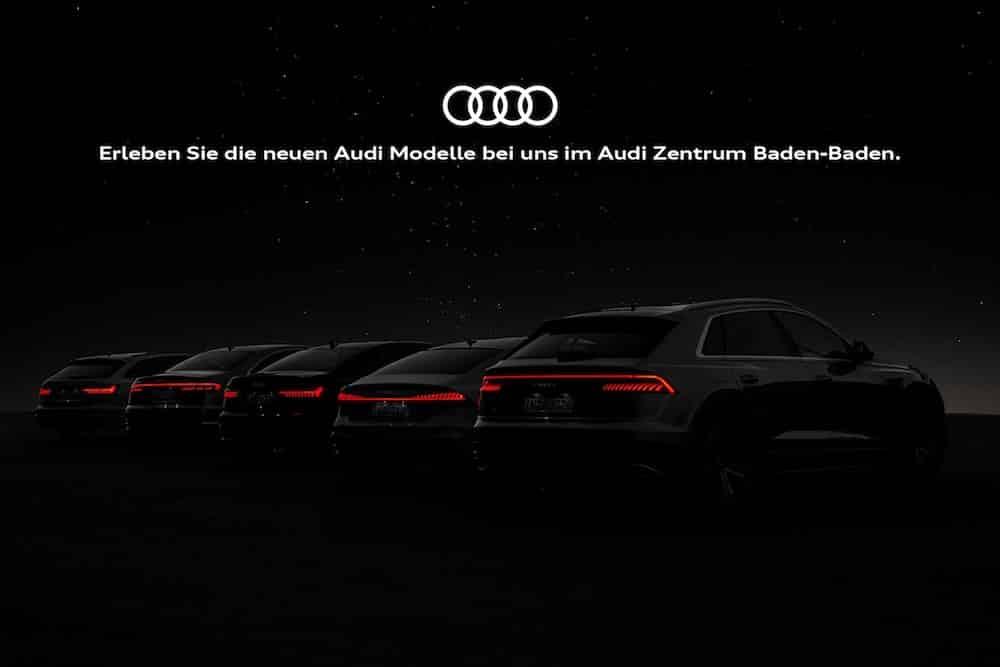 Catering zur Präsentation der neuen Audi Modelle