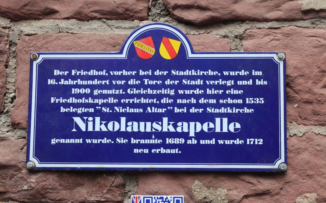 Tauffeier in der Nikolauskapelle in Karlsruhe-Durlach